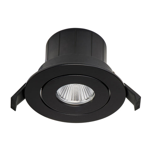 HCP-8721204- Black Tilt 12w TRI Colour Recessed LED Downlight