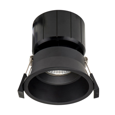 HCP-8521204- Black Fixed Deep 12w TRI Colour Recessed LED Downlight