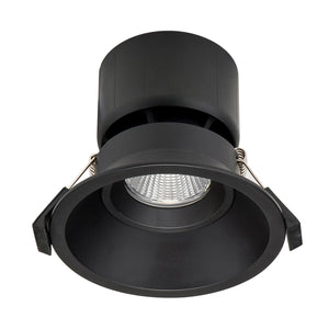 HCP-8621204- Black Fixed Deep 12w TRI Colour Recessed LED Downlight