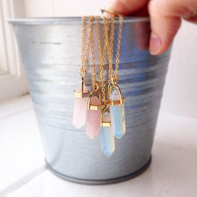 Cute Opal Gold Chain Necklace Fashion Jewelry for Women - www.Jewolite.com #necklaces  Edit alt text
