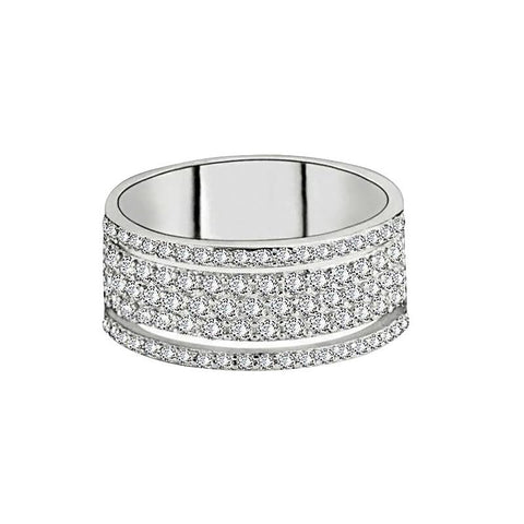 Emilia Cute Crystal Criss Cross X Band Adjustable Ring for Women