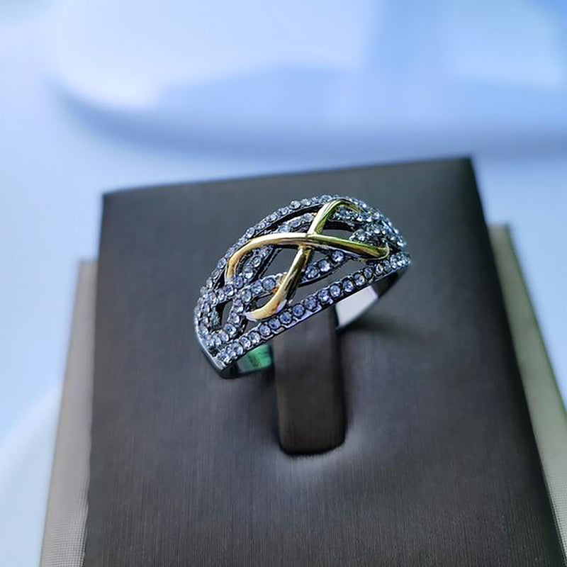 Beautiful Unique Infinity Crystal Ring Promise Wedding Engagement Fashion Ring for Women -  bague fantaisie pour femmes - www.Jewolite.com #rings