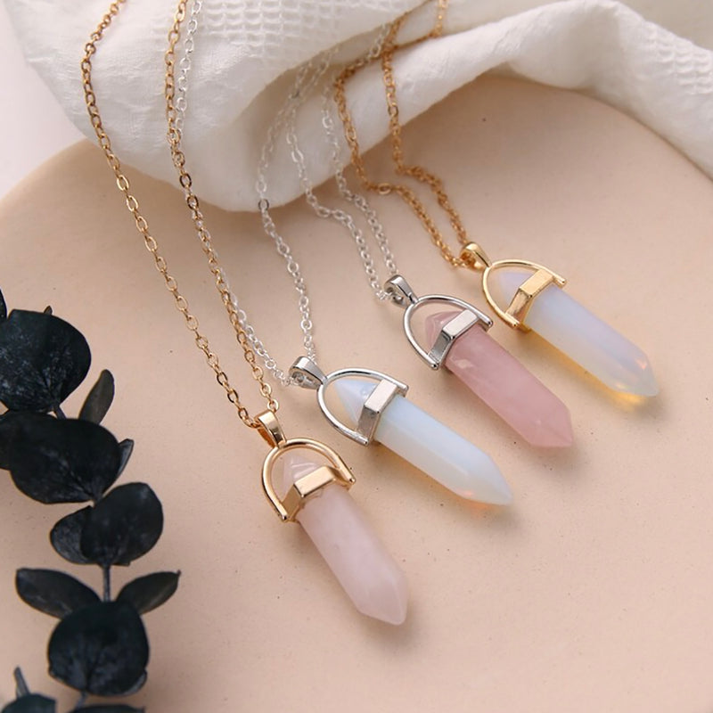 Cute Opal Gold Chain Necklace Fashion Jewelry for Women - www.Jewolite.com #necklaces