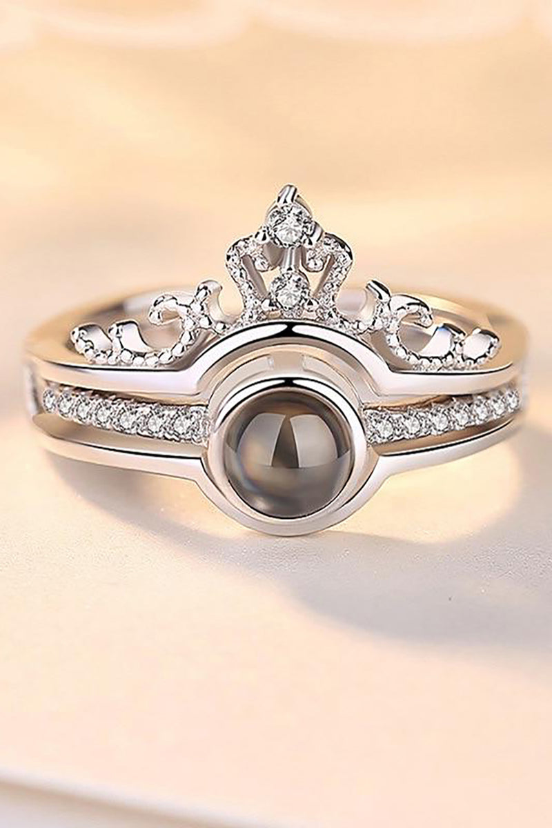 Beautiful Pearl Crystal Crown Princess Ring for Women for Teen Girls for Graduation Wedding Christmas Present -  anillo de corona - www.Jewolite.com #rings