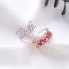 Cute Crystal Heart Band Ring Fashion Jewelry for Women for Teen Girls Graduation Engagement Promise Rings - www.Jewolite.com