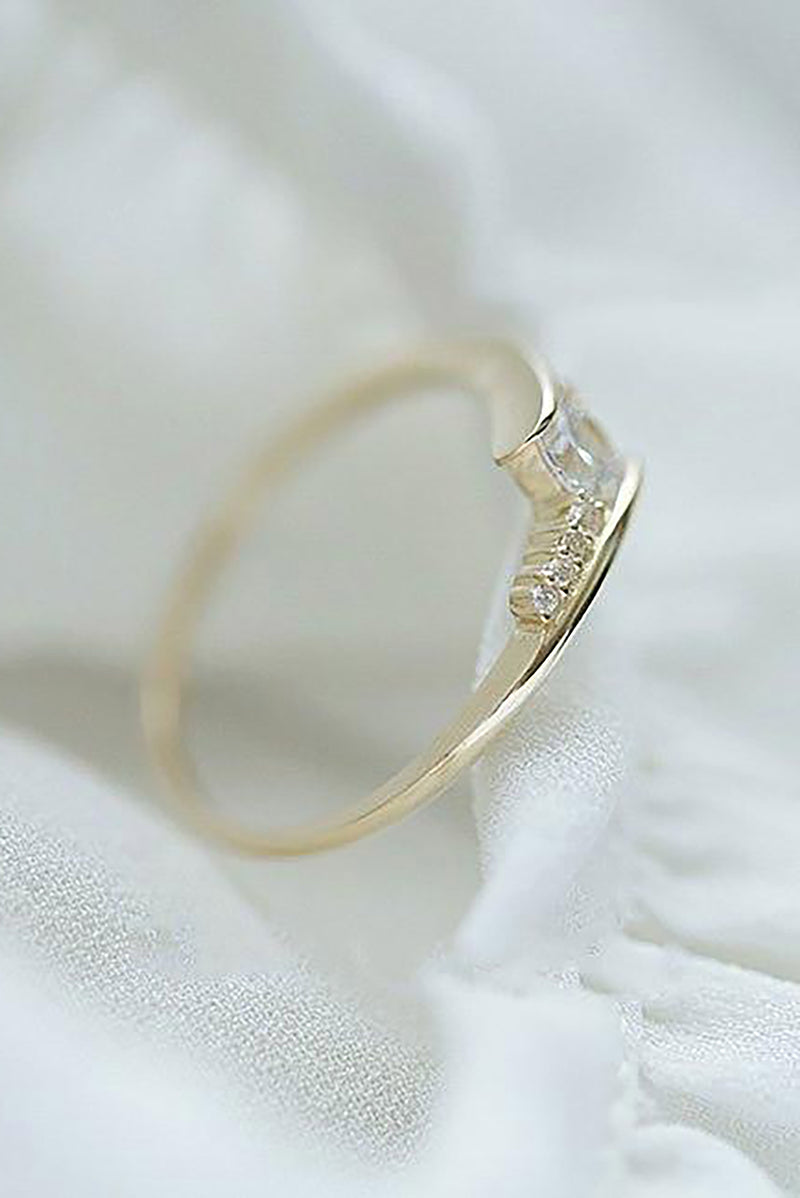 Jaded Trending Dainty & Simple Crystal Ring