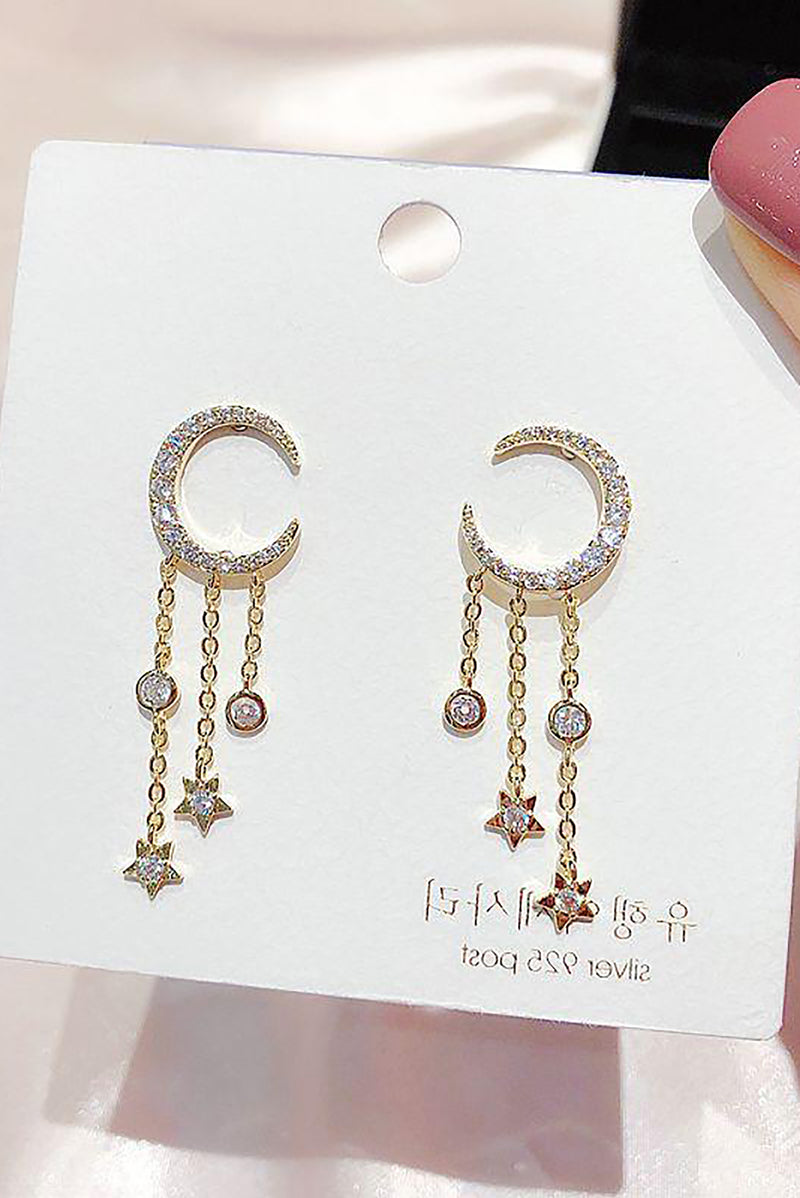 Pretty Crystal Dangle Chain Earring Studs Fashion Jewelry for Women - www.Jewolite.com  Edit alt text