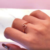 Cute Minimalist Surf Wave Ring in Rose Gold Dainty Fashion Jewelry for Women - www.Jewolite.com