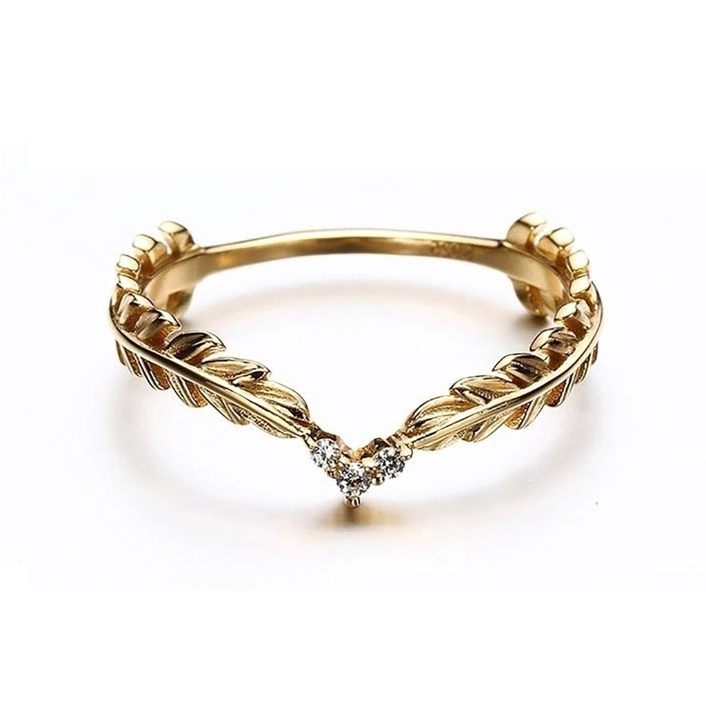 Cute Simple Angel Wings Heart Gold Ring Fashion Jewelry for Teen Girls for Graduation - www.Jewolite.com #rings