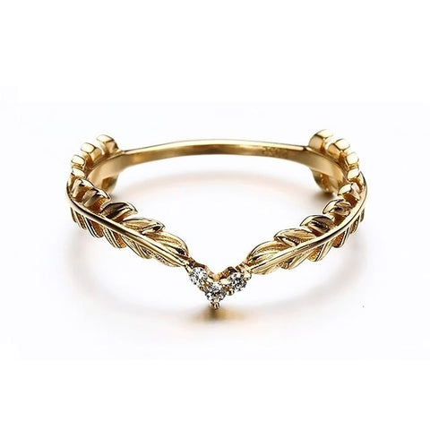 Pi Minimal Arrow Chevron Stackable Ring