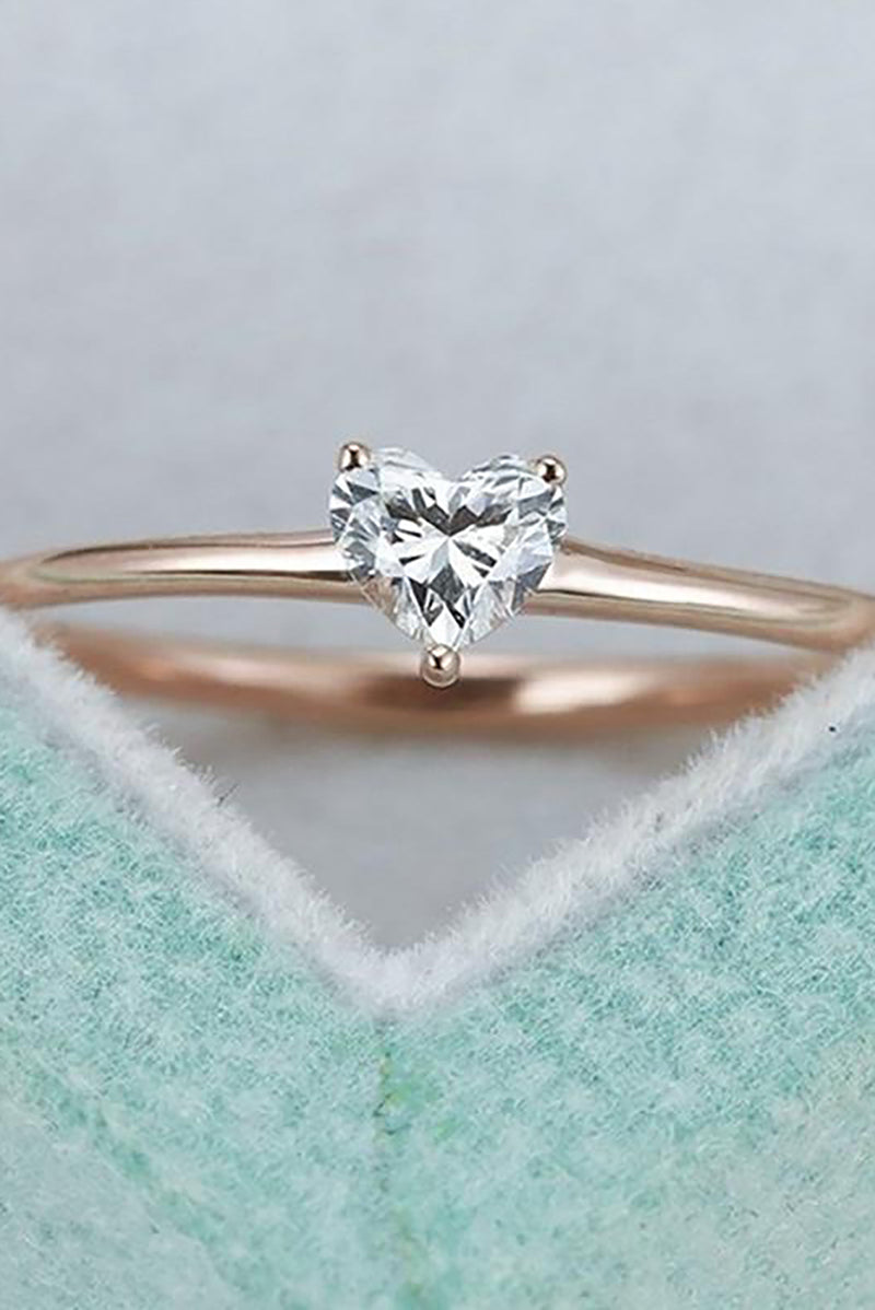 cute simple tiny small crystal heart solitaire ring fashion jewelry - anillo simple lindo corazón de cristal - www.Jewolite.comcute simple tiny small crystal heart solitaire ring fashion jewelry - anillo simple lindo corazón de cristal - www.Jewolite.com