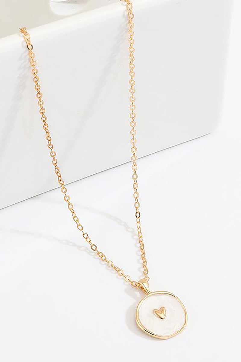 Trending Cute Coin Enamel Choker Necklace Gold Chain Moon- www.Jewolite.com #necklaces