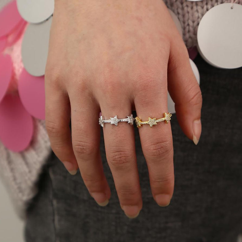 Cute Ring Star Ring Fashion Jewelry for Women  -  lindo anillo de luna estrella dorada - www.Jewolite.com #rings