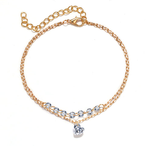 Shelly Simple Summer Seashell Double Chain Bracelet