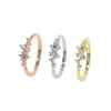 Cute Crystal Simple Dainty Ring Cluster Pretty Fashion Jewelry for Women for Graduation Wedding Promise in Gold, Rose Gold, Silver - www.Jewolite.com #rings