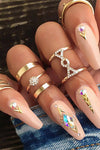 Cute Boho Gold Midi Rings Fashion Jewelry for Women - www.Jewolite.com