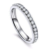 Silver Simple & Cute Crystal Band Ring Fashion Jewelry for Women - www.Jewolite.com