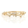 Larissa Pendant Charm Rope Bangle Bracelet in Gold