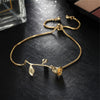 Simple Rose Chain Slider Bracelet Fashion Statement Jewelry for Women for Teens in Rose Gold, Gold, Silver (www.Jewolite.com) #bracelets