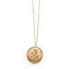 Wanderlust Direction Engraved Circle Compass Pendant Necklace