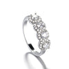 Crystal Circle Ring Halo Eternity Wedding Band Promise Graduation Wedding Gift Ring - www.Jewolite.com #rings