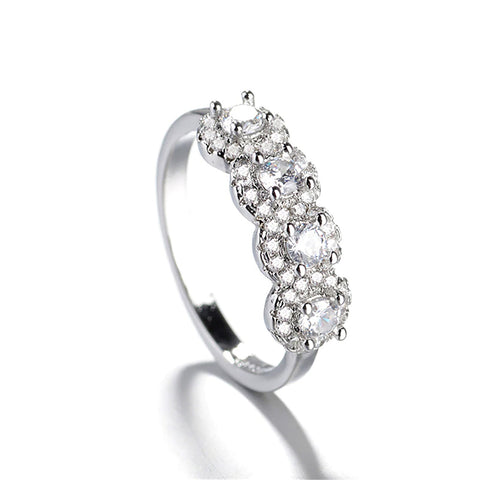 Tammy Unique Crystal Criss Cross Adjustable Statement Ring