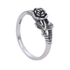 Cute Antiqued Silver Rose Ring Fashion Jewelry for Teens for Women - www.Jewolite.com