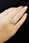 Antoinette Halo Ring Ultra Shine Clear & Pink Crystal Fashion Promise Ring