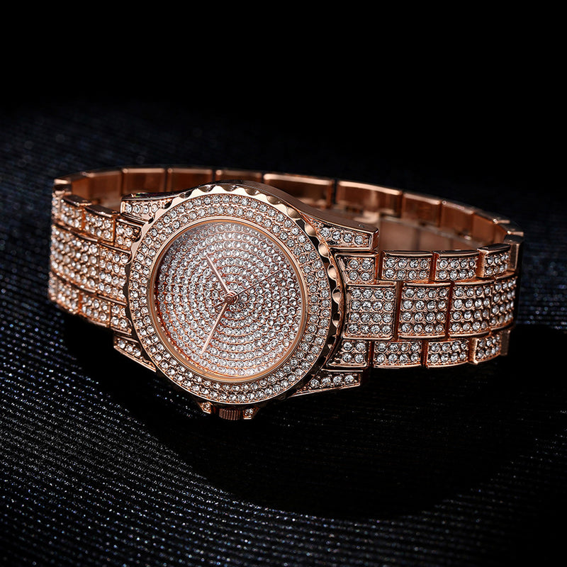 Women's Cute Bling All Crystals Watch Unique Luxury Jewelry for Ladies in Silver, Gold, Rose Gold Rhinestone Encrusted Blinged Out - reloj de cristal bling para mujeres - (www.Jewolite.com)