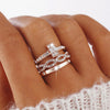 Vintage Rose Gold Stackable Ring Set for Teens Engagement Promise Graduation Wedding Stacking Rings Everyday Fashion Jewelry - www.Jewolite.com #rings