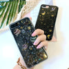 Cute Glitter Galaxy Planets Black and Clear IPhone Case XS Max XR X -  caja linda del teléfono planetas - www.Jewolite.com