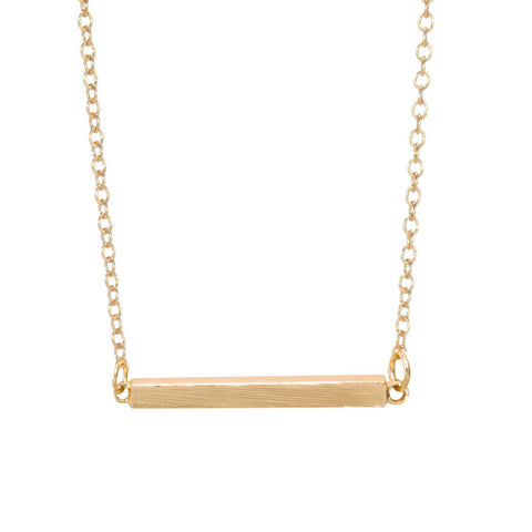 Ari Minimalist Geometric V Arrow Long Necklace