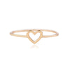 Isabel Crystal Swirl Opal Gemstone Fashion Ring in Rose Gold