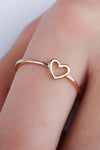 Simple Dainty Cute Heart Outline Minimalist Ring Fashion Jewelry for Women for Teen Girls - www.Jewolite.com