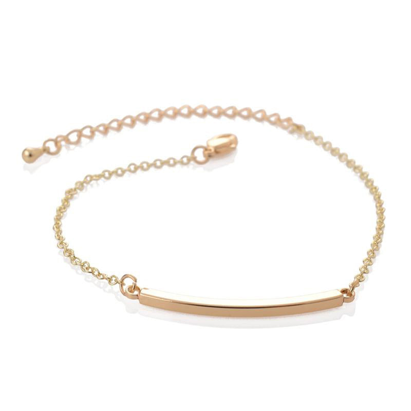 Cute Simple Bracelet Dainty Minimalist Bar Chain Bracelet in Gold, Silver Statement Fashion Jewelry for Women for Teen Girls (www.Jewolite.com) #bracelets
