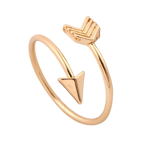 Jael Cute Minimalist Stackable Small Circle Crystal Gold Ring