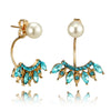 Cute Pearl Ear Piercing Ideas for Teens Crystal Starburst Ear Jacket Earring Women's Fashion Jewelry (www.Jewolite.com) #earrings