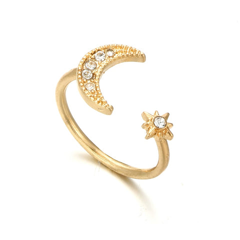 Ellie Simple Double Crystal Arrow Chevron Dainty Ring