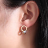 Cool Ear Piercing Ideas Unique Circle Hoop Roman Numerals Stud Earrings in Rose Gold, Silver for Women for Teens (www.Jewolite.com) #earrings