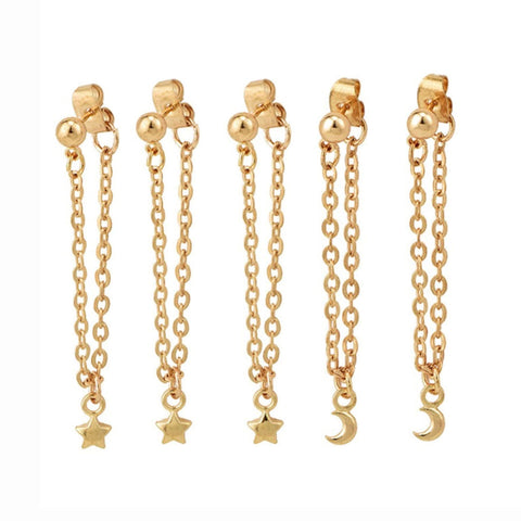 Gracie Pearl Drop Dangle Gold Huggie Small Hoop Earrings