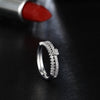 Cute Simple Crystal Heart Ring Fashion Jewelry for Teens Women's Engagement Promise Band Stackable Silver Ring (www.Jewolite.com) #rings
