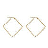 Lea Simple Minimalist Small Wired Metal Hoop Earrings