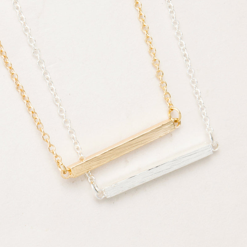 Simple Minimal Bar Pendant Chain Necklace Cute Dainty Modern Choker Jewelry 2018 in Gold or Silver (www.Jewolite.com) #necklaces