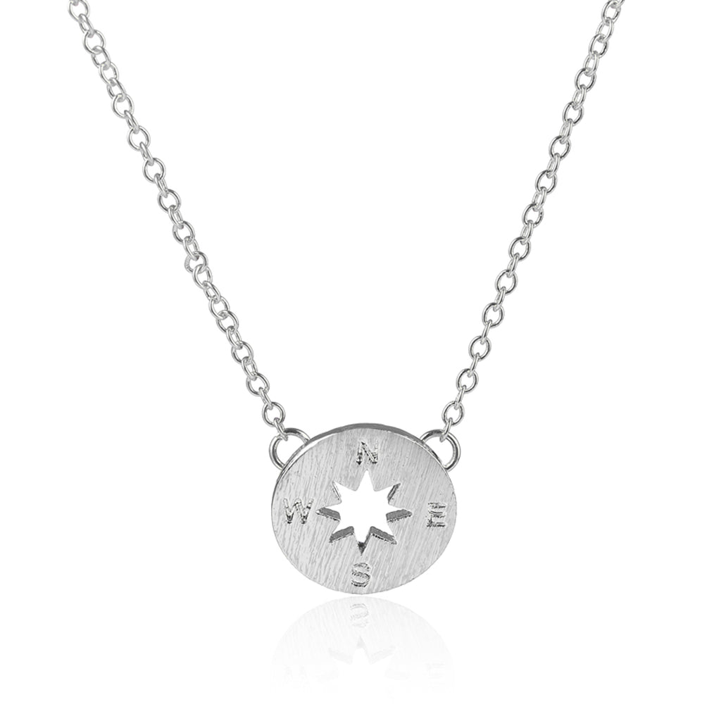 Simple Compass Pendant Necklace Modern Dainty Jewelry for Necklines 2018 for Women for Travelers in Silver or Gold collar de brújula simple colgante para las mujeres (www.Jewolite.com) #necklaces