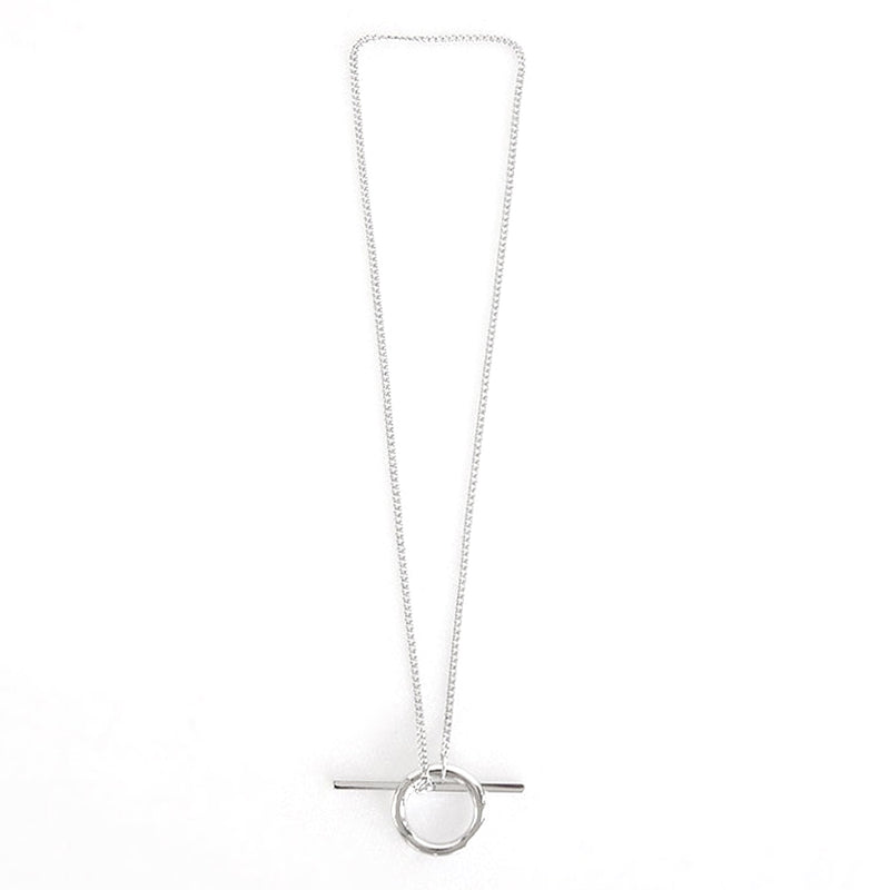 Simple Minimalist Toggle Chain Necklace Dainty Fashion Jewelry for Women for Teens Girls in Gold or Silver collar de cadena delicada (www.jewolite.com)