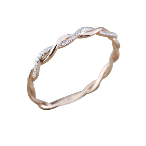 Audrey Ultra Shine Crystal Halo Pear Pink Teardrop Drop Double V Arrow Band Ring