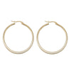 Cathy Roman Numerals Interlocking Circle Stud Earrings in Rose Gold