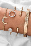 Cute Gold Bracelet Moon Fashion Jewelry for Women - pulsera de luna joyería de moda - www.Jewolite.com