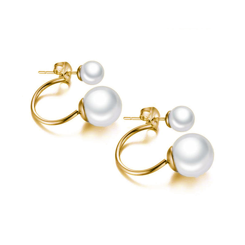 Elegant Ear Piercing Ideas for Women Classy Pearl Er Jacket Earrings for Teens elegantes pendientes de oreja de perla para mujer (www.Jewolite.com) #earrings