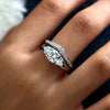 Beautiful Classic Solitaire Ring Crystal Anniversary Graduation Promise Engagement Wedding Present Ring Set in Silver Statement Fashion Jewelry for Women (www.Jewolite.com) #rings